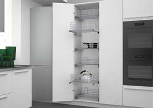 Pan Drawer and Base Unit Pullouts